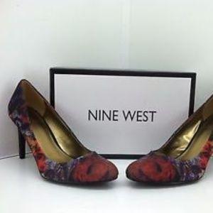 95ba6bb6080 Nine West Shoes - Nine West Hand Jive Red Multi-color Floral Heels